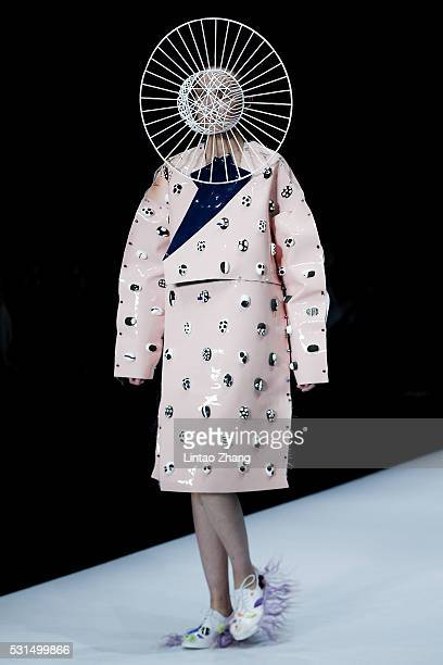 Model showcases designs on the runway at China Academy of Art School of Design Graduate Show during the day one of China Graduate Fashion Week at the...