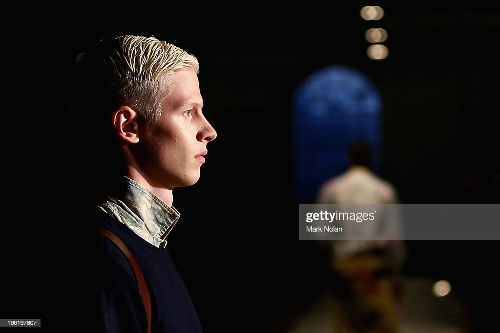 A model showcases designs on the runway at the Vanishing Elephant show during Mercedes-Benz Fashion Week Australia Spring/Summer 2013/14 at Australian Technology Park on April 10, 2013 in Sydney, Australia.