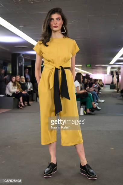 A model showcases Kuwaii designs during Underground Runway One show at Melbourne Fashion Week on September 2 2018 in Melbourne Australia