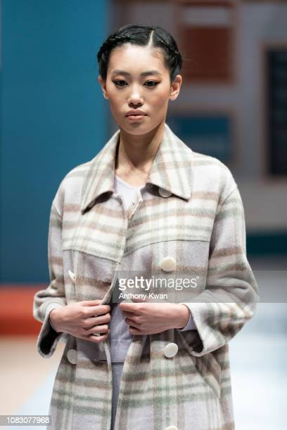 A model showcases the Puyuan China brand fashion during the Hong Kong Fashion Week 2019 For Fall/Winter on January 15 2019 in Hong Kong Hong Kong