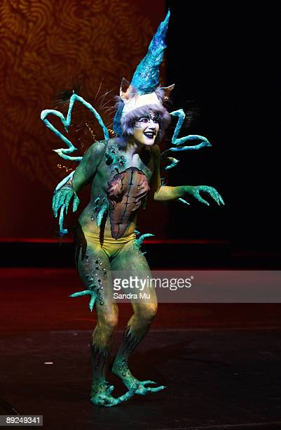A model showcases the work of Erin Harrison in the SPFX Fantasy section during the New Zealand Body Art Awards at the Bruce Mason Centre on July 25...