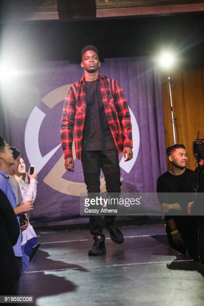 A model shows off the new BBB collection as the Big Baller Brand hosts a fashion show and the release of Lonzo Ball's 'Born 2 Ball' mixtape at the...