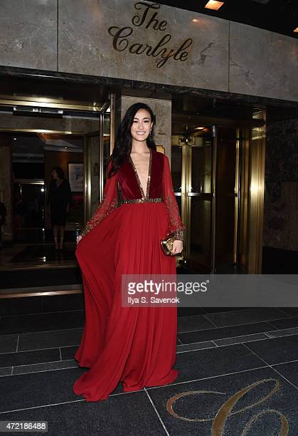 Model Shu Pei departs for the MET Gala 2015 from The Carlyle on May 4 2015 in New York City