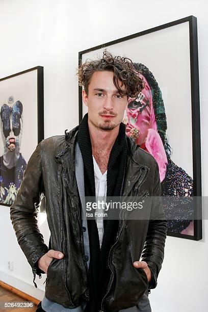 Model Simon Lohmeyer at 'Der Berliner Fotografie Salon Edition 1' on April 29 2016 in Berlin Germany