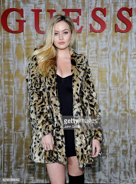 Model Simone Holtznagel attends GUESS Glitz and Glam Holiday event at The Carondelet House on December 13 2016 in Los Angeles California