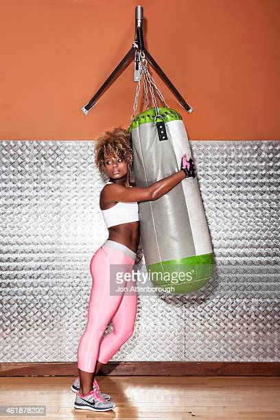Model singer and runner up in the UK's 2014 Xfactor show Fleur East is photographed for RWD magazine on January 16 2013 in London England
