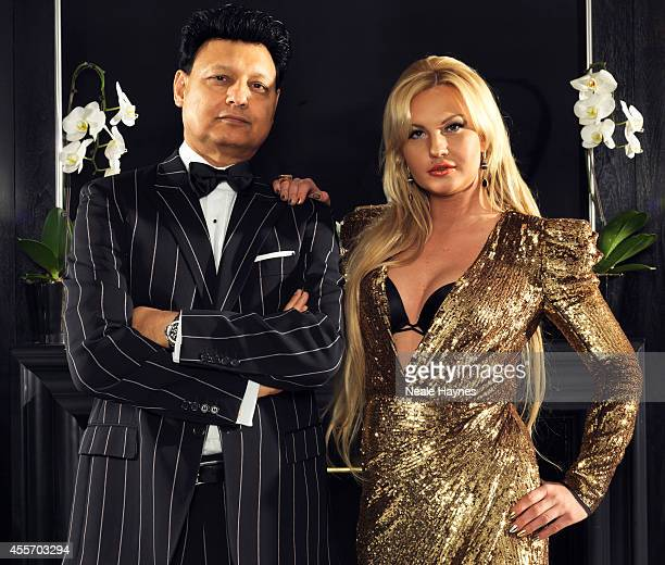 Model, singer and star of relality show Meet the Russians, Kamaliya Zahoor is photographed with her husband Mohammad Zahoor for Grazia magazine on...