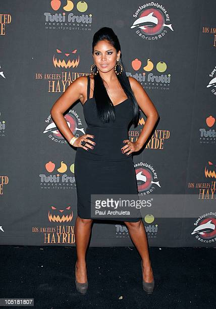 "Model / Singer Issa Bayaua ""Miss Issa"" arrives at the 2nd annual Haunted Hayride premiere night at Griffith Park on October 10, 2010 in Los Angeles,..."