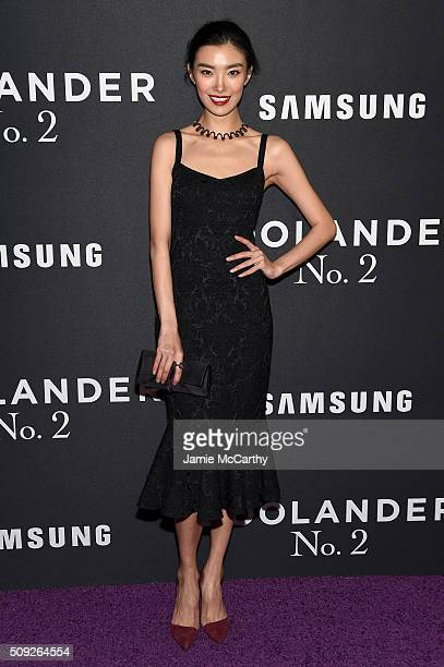 """Model Sissi Hou attends the """"Zoolander 2"""" World Premiere at Alice Tully Hall on February 9, 2016 in New York City."""