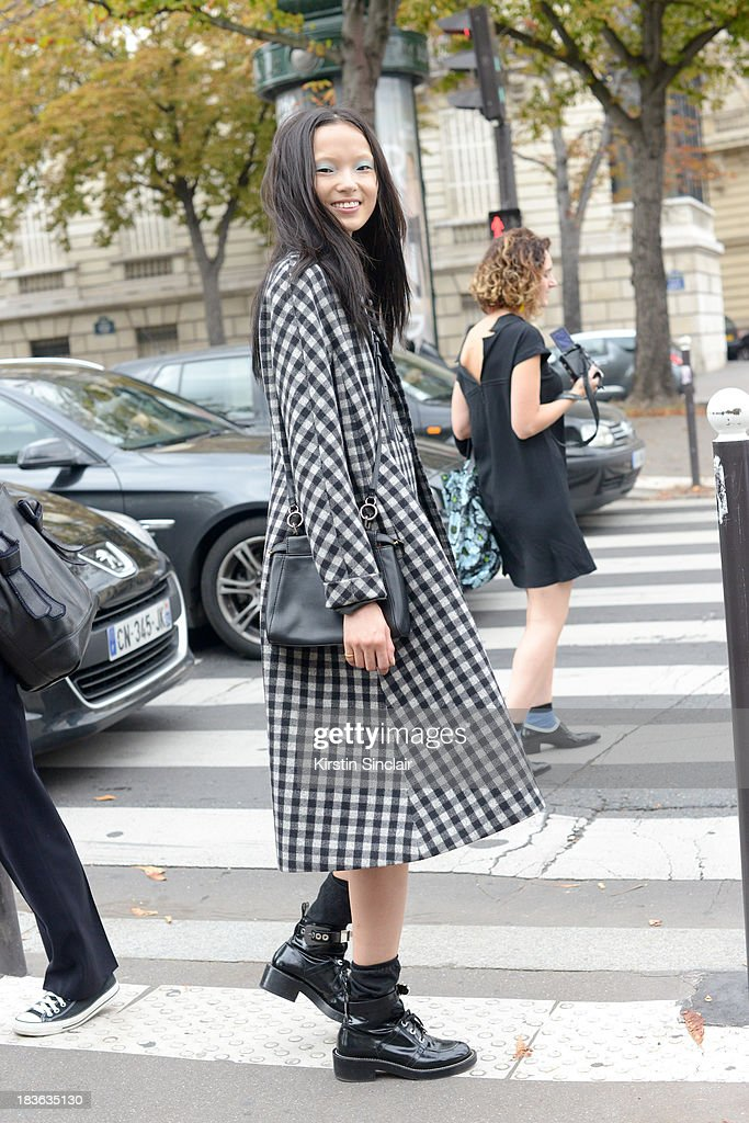 Model Sissi Hou on day 9 of Paris Fashion Week Spring/Summer 2014, Paris October 02, 2013 in Paris, France.