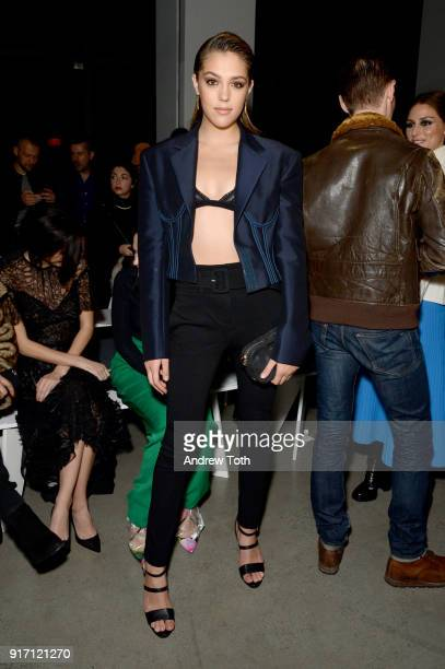 Model Sistine Rose Stallone attends the Prabal Gurung front row during New York Fashion Week The Shows at Gallery I at Spring Studios on February 11...