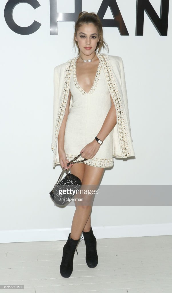 Model Sistine Stallone attends the launch of The Coco Club celebrated by CHANEL at The Wing Soho on November 10, 2017 in New York City.