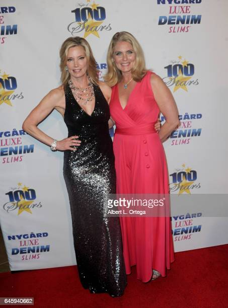 Model sKelly Emberg and Kim Alexis arrive for the Norby Walters' 27th Annual Night Of 100 Stars Black Tie Dinner Viewing Gala held at The Beverly...