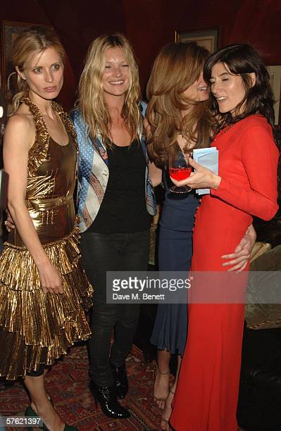 Model sLaura Bailey Kate Moss Jemima Khan and designer Bella Freud attend an exclusive dinner and auction hosted by Freud to benefit the HOPING...