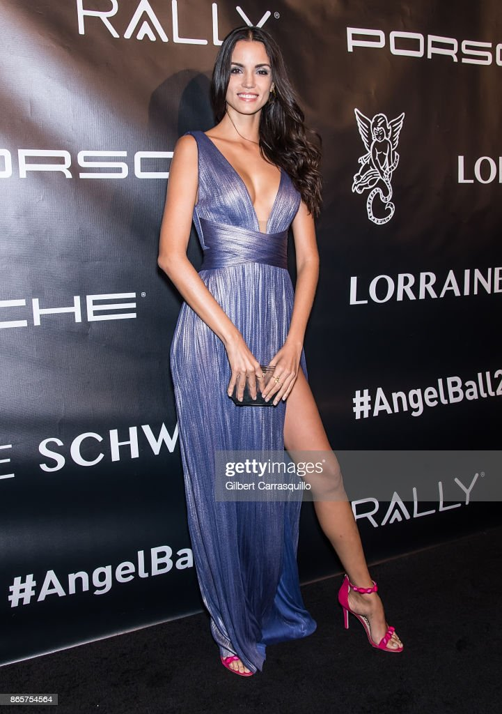 Model Sofia Resing arrives at Gabrielle's Angel Foundation's Angel Ball 2017 at Cipriani Wall Street on October 23, 2017 in New York City.