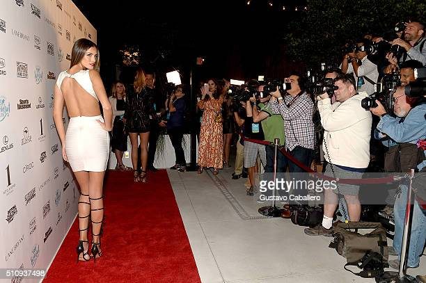 Model Sofia Resing attends the Sports Illustrated Swimsuit 2016 Swim BBQ VIP at 1 Hotel Homes South Beach on February 17 2016 in Miami Beach Florida