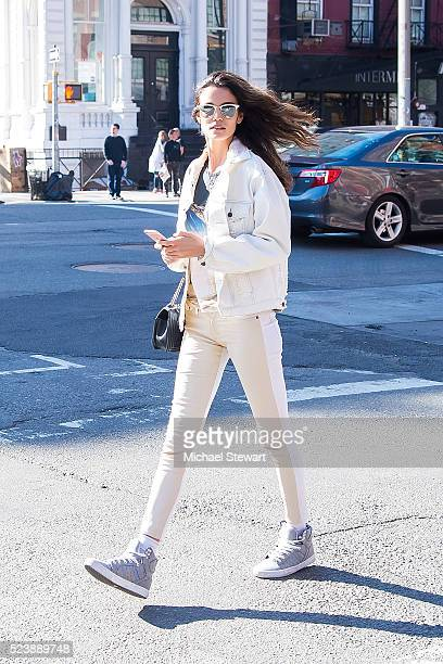 Model Sofia Resing is seen in the East Village on April 24 2016 in New York City
