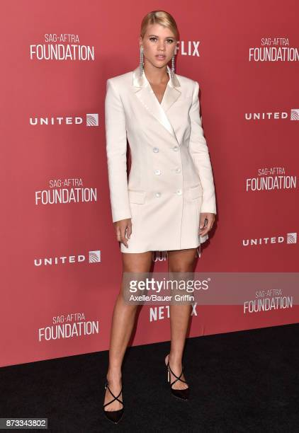 Model Sofia Richie arrives at SAGAFTRA Foundation Patron of the Artists Awards 2017 on November 9 2017 in Beverly Hills California