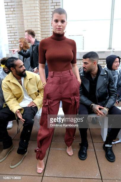 Model Sofia Richie attends the 3.1 Phillip Lim front row during New York Fashion Week at New Design High School on September 10, 2018 in New York...