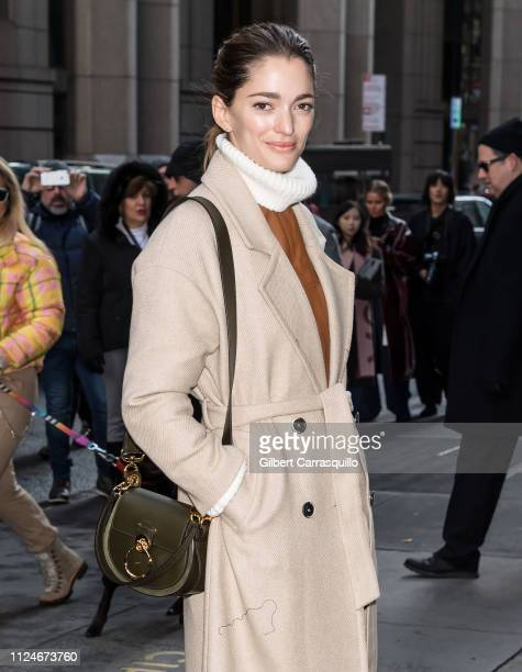 Model Sofia Sanchez de Betak is seen arriving to Michael Kors Fashion Show during New York Fashion Week at Cipriani Wall Street on February 13 2019...