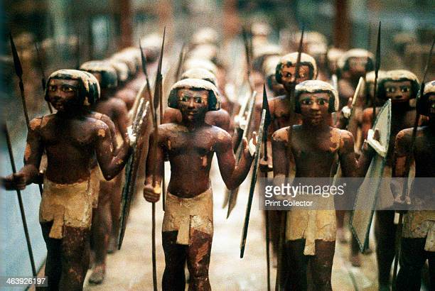 Model soldiers from the tomb of an 18th dynasty pharoah Ancient Egyptian 16th13th century BC