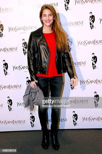 Model Solene Hebert attends the 'Yves Saint Laurent' Paris movie Premiere at Cinema UGC Normandie on December 19 2013 in Paris France