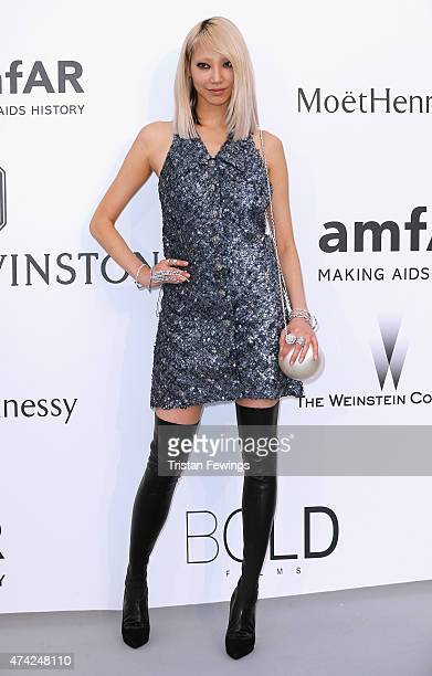 Model Soo Joo Park attends amfAR's 22nd Cinema Against AIDS Gala Presented By Bold Films And Harry Winston at Hotel du CapEdenRoc on May 21 2015 in...