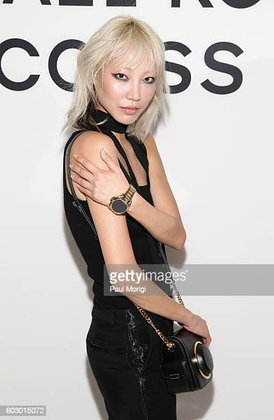 Model Soo Joo Park attends the Michael Kors Access Smartwatch launch party at Michael Kors on September 11 2016 in New York City