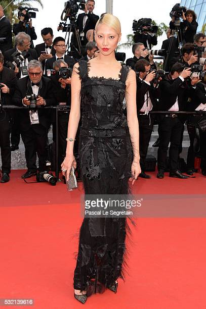 Model Soo Joo Park attends The Unknown Girl Premiere during the 69th annual Cannes Film Festival at the Palais des Festivals on May 18 2016 in Cannes...