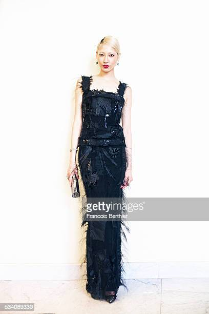 Model Soo Joo Park is photographed for Self Assignment on May 18 2016 in Cannes France
