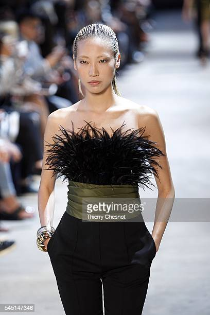 Model Soo Joo Park walks the runway during the Alexandre Vauthier Haute Couture Fall/Winter 20162017 show as part of Paris Fashion Week on July 5...