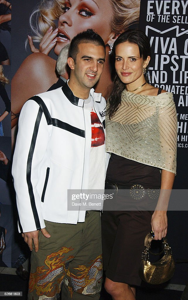 Model Sophie Anderton and Mark Alexiou attend the MAC VIVA GLAM V party launching MAC Cosmetics' latest charity lipstick at Home House on April 21, 2005 in London. All proceeds go straight to the MAC AIDS Fund, helping people affected by the disease across the world. Pamela Anderson joins the likes of Christina Aguilera and Missy Elliott as international spokesperson for VIVA