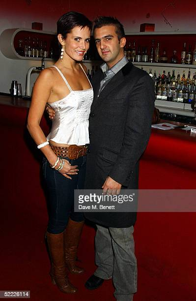 Model Sophie Anderton and partner Mark Alexiou attend the Chain Of Hope auction and party in aid of heart surgeon Professor Sir Magdi Yacoub's...