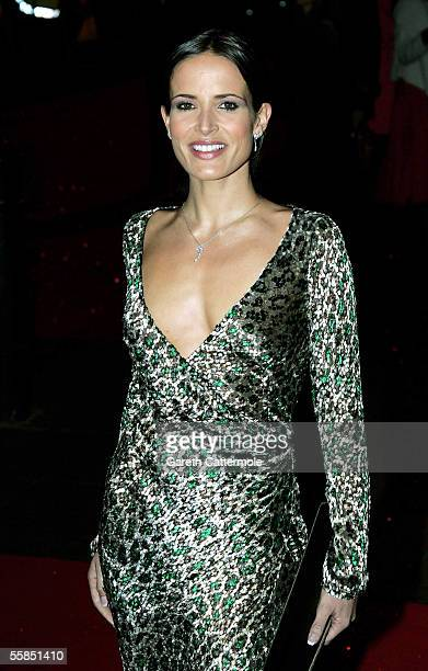 Model Sophie Anderton arrives at the world gala film premiere of Kinky Boots at Vue West End on October 4 2005 in London England