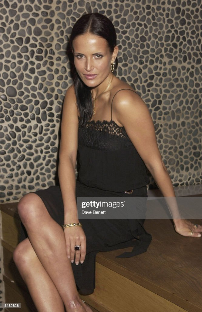 Model Sophie Anderton during the launch party for drinks company Tia Maria's promotion 'Tia Maria Mixology' on 27th November 2002 at the 'Click Club' on Wardour Street in the heart of Soho in London.