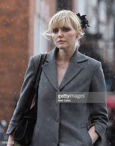 Model Sophie Dahl arrives at the funeral service for fashion stylist Isabella Blow at Gloucester Cathedral on May 15 2007 in Gloucester United...