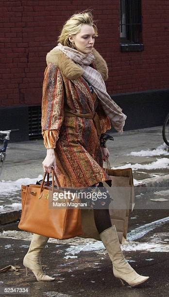 Model Sophie Dahl shops March 9 2005 in the Greenwich Village neighborhood of New York City