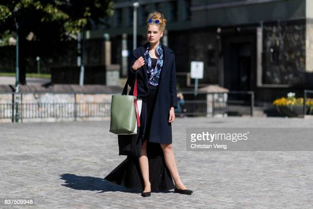 Model Sophie Rask outside IBEN on August 22 2017 in Oslo Norway