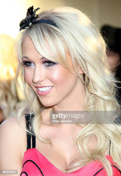 Model Sophie Reade arrives at the world premiere gala screening of The Infidel held at the Hammersmith Apollo on April 8 2010 in London England at...