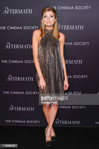Model Sophie Sumner attends a screening for The Aftermath in New York City at the Whitby Hotel on March 13 2019 in New York City