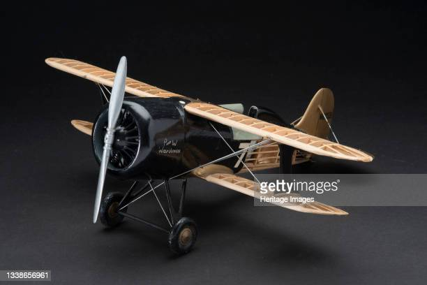 Model, Static, Laird LC-DW Solution, circa 1939. Balsa and metal display model of the Laird LC-DW Solution racing aircraft which won the 1930 Thomson...