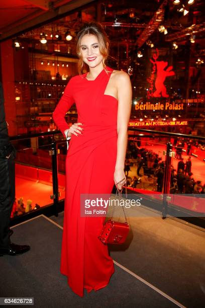 Model Stefanie Giesinger attends the Audi Lounge Night Audi At The 67th Berlinale International Film Festival on February 9 2017 in Berlin Germany