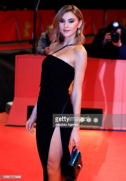 "Model Stefanie Giesinger attends the his film ""Grace a Dieu"" premiere during the second day of the 69th Berlinale International Film Festival in..."