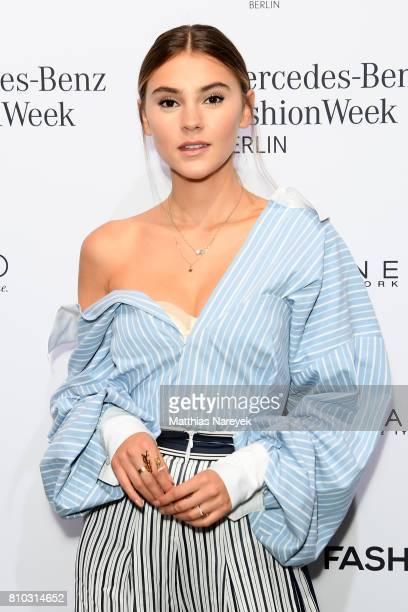 d117a0ee9 Model Stefanie Giesinger attends the Prabal Gulung Design show during the  MercedesBenz Fashion Week Berlin Spring