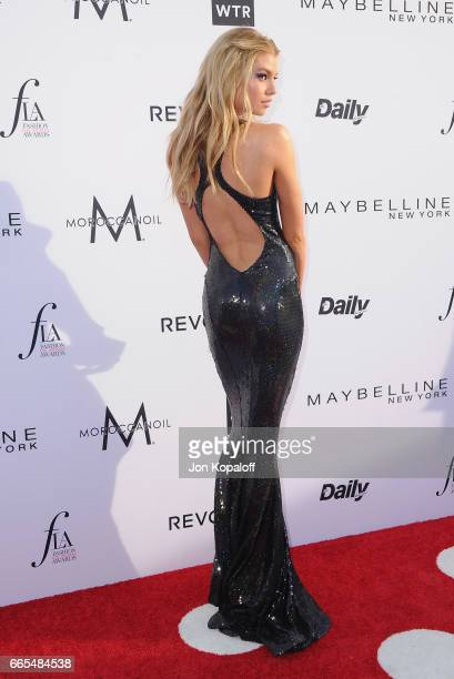 Model Stella Maxwell arrives at the Daily Front Row's 3rd Annual Fashion Los Angeles Awards at the Sunset Tower Hotel on April 2 2017 in West...