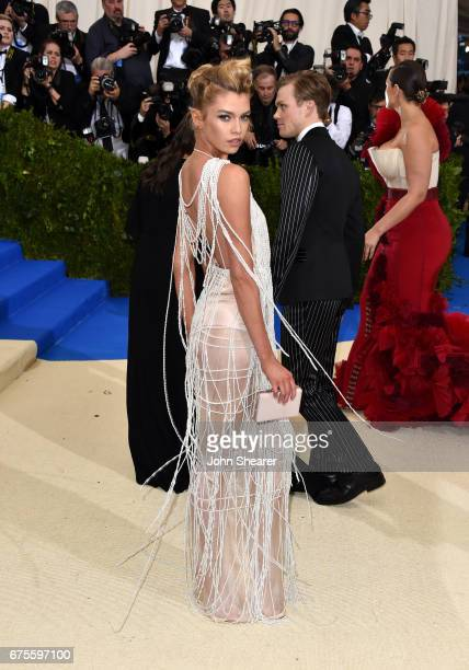 Model Stella Maxwell attends Rei Kawakubo/Comme des Garcons Art Of The InBetween Costume Institute Gala at Metropolitan Museum of Art on May 1 2017...