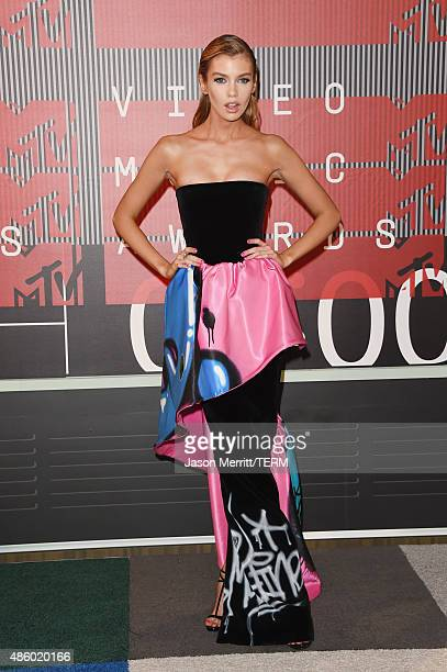 Model Stella Maxwell attends the 2015 MTV Video Music Awards at Microsoft Theater on August 30 2015 in Los Angeles California