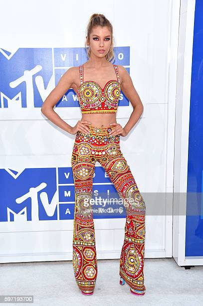 Model Stella Maxwell attends the 2016 MTV Video Music Awards at Madison Square Garden on August 28 2016 in New York City