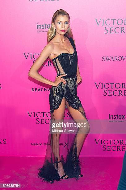 Model Stella Maxwell attends the 2016 Victoria's Secret Fashion Show after party at Le Grand Palais on November 30 2016 in Paris France
