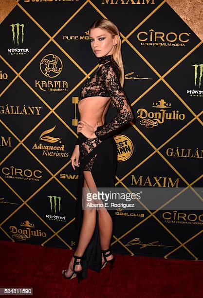 Model Stella Maxwell attends the Maxim Hot 100 Party at the Hollywood Palladium on July 30 2016 in Los Angeles California